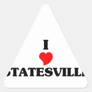 I love Statesville Triangle Sticker