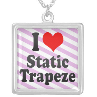 I love Static Trapeze Personalized Necklace