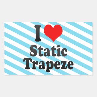 I love Static Trapeze Rectangle Sticker