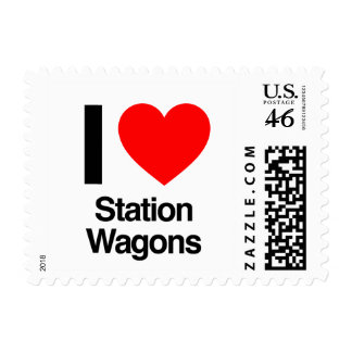i love station wagons postage stamps