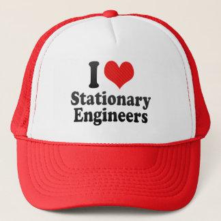 I Love Stationary Engineers Trucker Hat