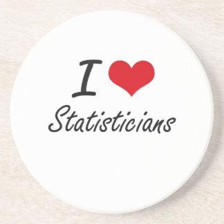 I love Statisticians Beverage Coaster