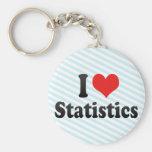I Love Statistics Key Chains