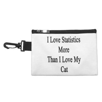 I Love Statistics More Than I Love My Cat Accessory Bag