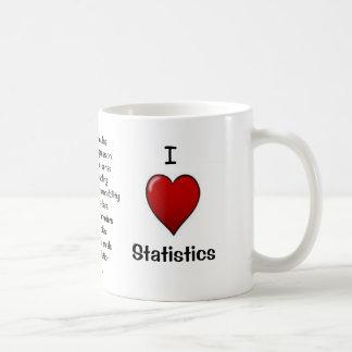 I Love Statistics - Rude Reasons Why! Classic White Coffee Mug