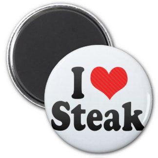I Love Steak 2 Inch Round Magnet