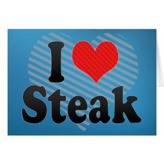 I Love Steak Card