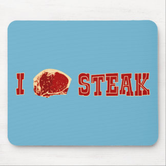 I Love Steak Mouse Pad