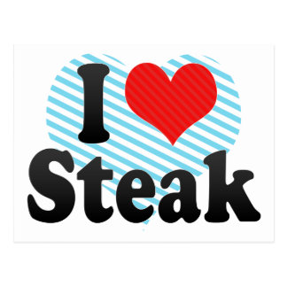 I Love Steak Postcard