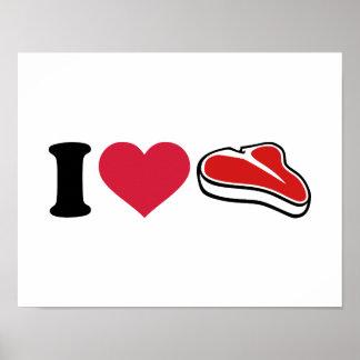 I love Steak Posters