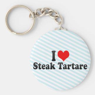 I Love Steak Tartare Keychains