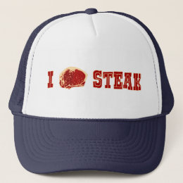 I Love Steak Trucker Hat