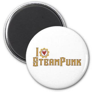 I love steampunk 2 inch round magnet