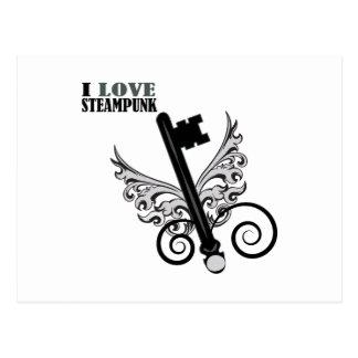 I Love Steampunk Postcard