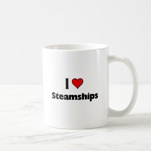 i love steamships mug