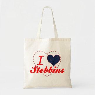 I Love Stebbins, Alaska Canvas Bags