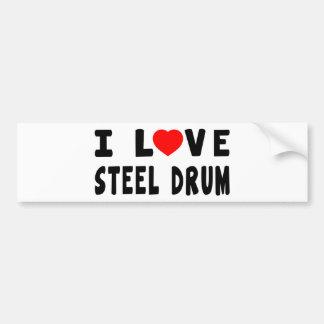 I Love Steel drum Bumper Sticker