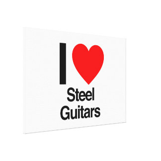 i love steel guitars gallery wrap canvas