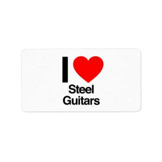 i love steel guitars personalized address label