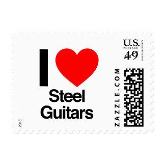 i love steel guitars postage