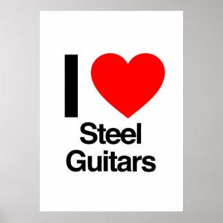i love steel guitars print