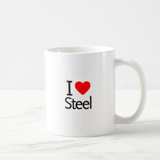 I Love Steel Coffee Mugs