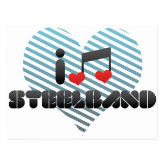 I Love Steelband Postcard