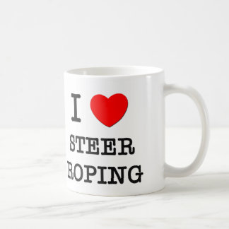 I Love Steer Roping Coffee Mug
