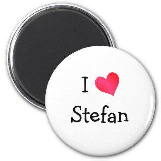 I Love Stefan 2 Inch Round Magnet