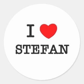 I Love Stefan Classic Round Sticker