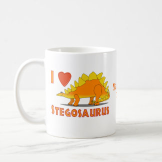 I Love Stegosaurus Cute Dinosaur Cartoon Template Coffee Mug