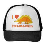 I Love Stegosaurus Cute Dinosaur Cartoon Template Trucker Hat