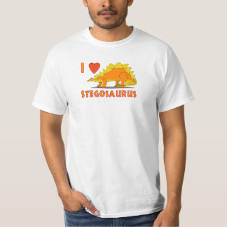 I Love Stegosaurus Cute Dinosaur Cartoon Template T-Shirt