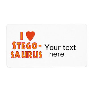 I Love Stegosaurus Dinosaur Lovers Label