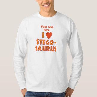 I Love Stegosaurus Dinosaur Lovers T-Shirt