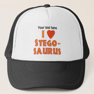 I Love Stegosaurus Dinosaur Lovers Trucker Hat