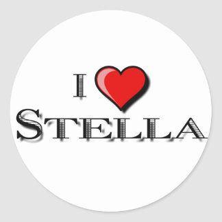 I Love Stella Classic Round Sticker