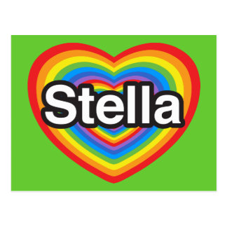 I love Stella. I love you Stella. Heart Postcard