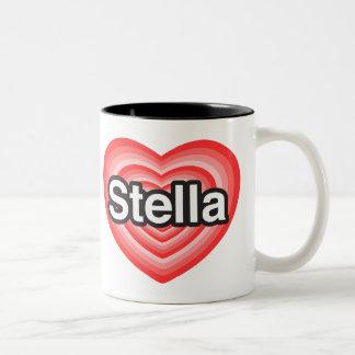I love Stella. I love you Stella. Heart Two-Tone Coffee Mug