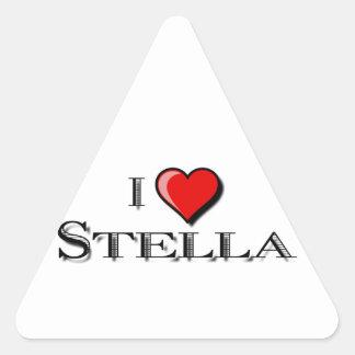 I Love Stella Triangle Sticker