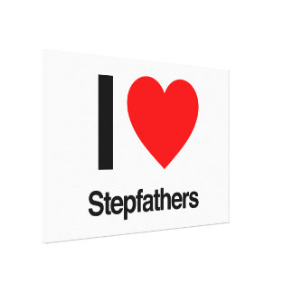 i love stepfathers canvas print