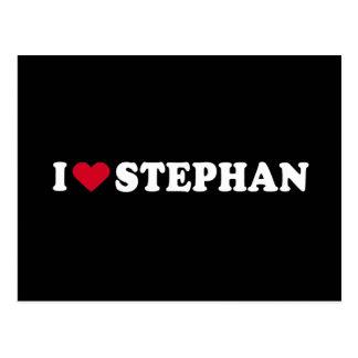 I LOVE STEPHAN POSTCARD