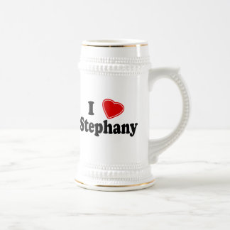 I Love Stephany 18 Oz Beer Stein
