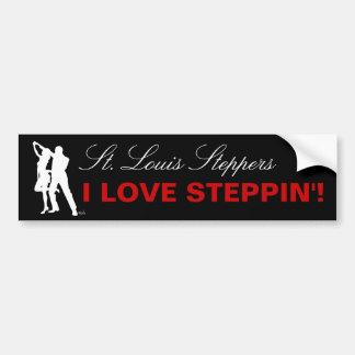 I Love Steppin' - St. Louis Bumper Sticker
