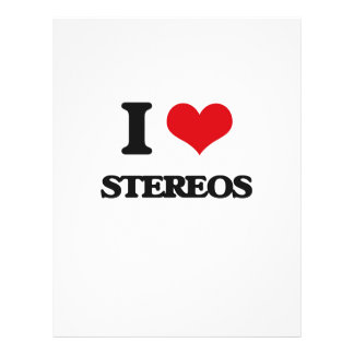 I love Stereos Personalized Flyer
