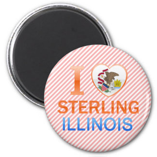 I Love Sterling, IL Refrigerator Magnet