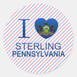 I Love Sterling, PA Classic Round Sticker
