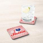 I Love Stettin, Wisconsin Beverage Coasters