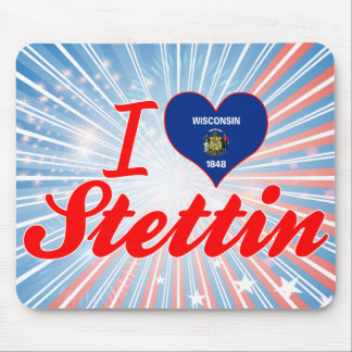 I Love Stettin, Wisconsin Mouse Pad