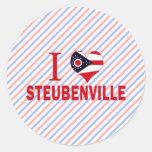 I love Steubenville, Ohio Round Sticker